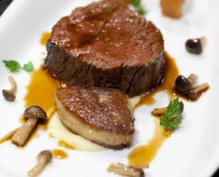 Beef fillet - Organic beef fillet, foie gras & hon shimeji mushroom